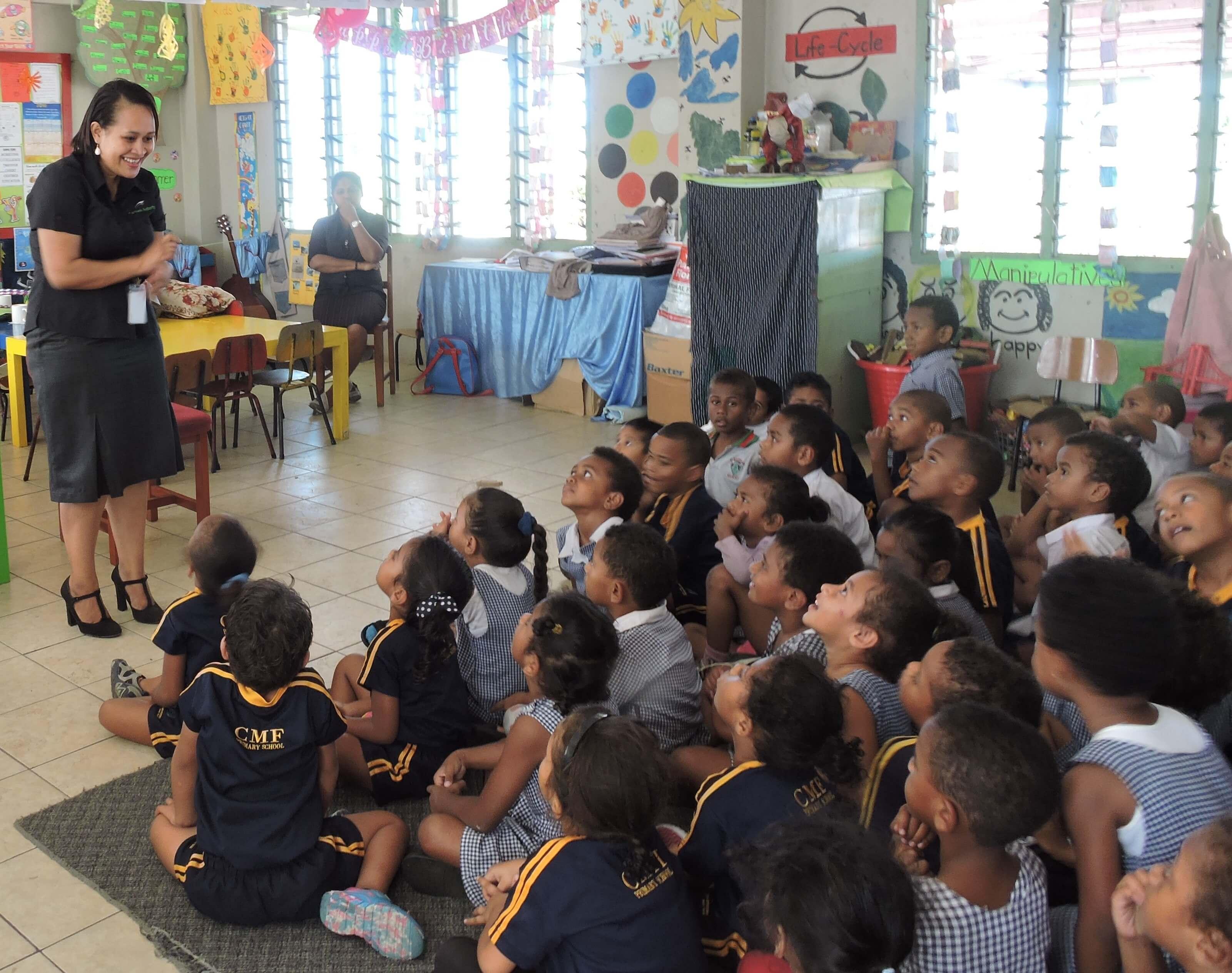 School visit, CMF School, Newtown, Nasinu