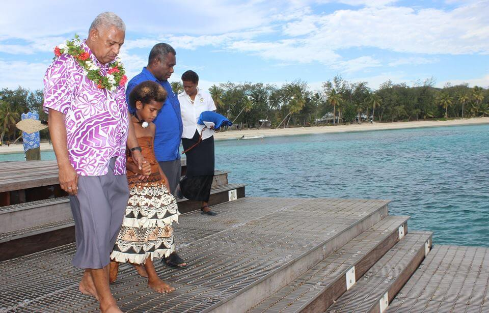 Opening of the Yasawa-i-rara jetty by the Honourable Prime Minister