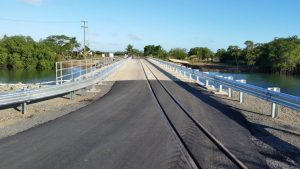 The new Lomawai Bridge in Sigatoka