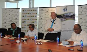 Standing- FRA CEO John Hutchinson during the MOU signing
