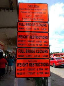 Image 1-Labasa Bridge Closure Times