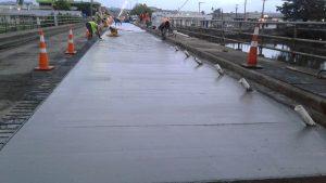 Image 2 - Labasa bridge after pouring concrete